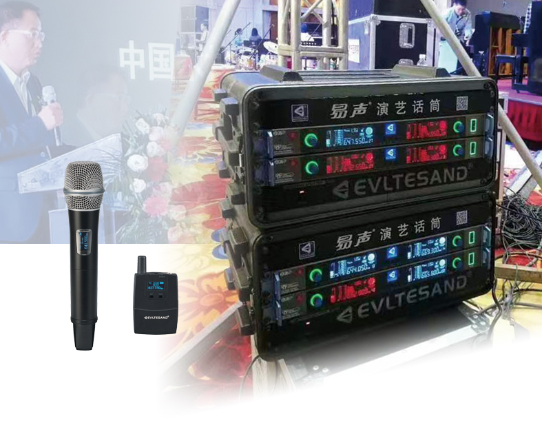 wireless true diversity microphone for performance