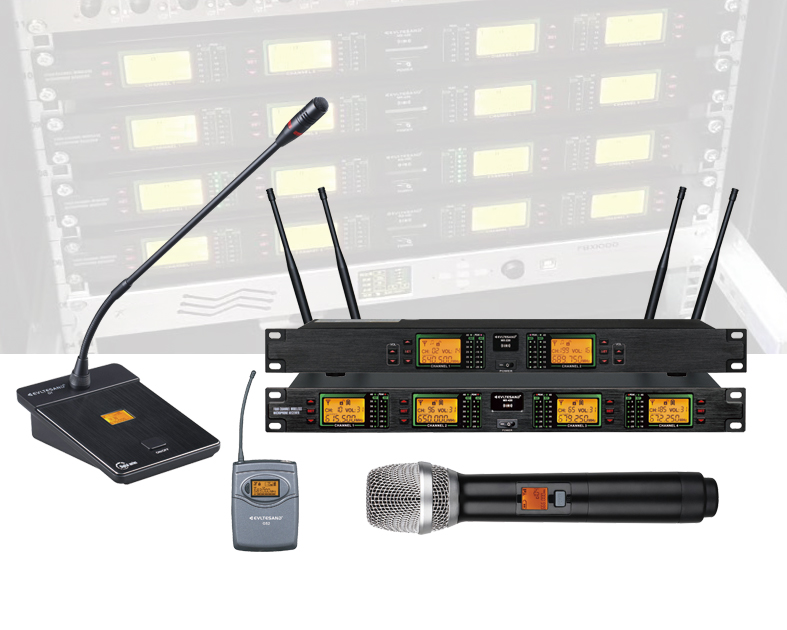 two/four/eight channel wireless microphone